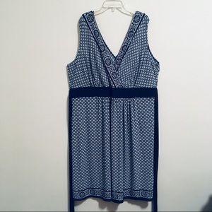 Avenue Blue Austrian Wrap Dress